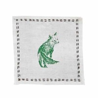 Fox Hunt Linen Cocktail Napkins (Set of 4)