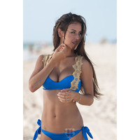 Capri - Blue & Gold Lace Two Piece Bikini