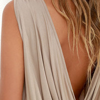 Tango Twist Beige Sleeveless Top