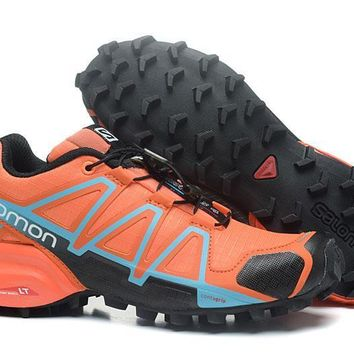 Salomon Women's Speed Cross 4 Trail Running Shoe Orange/Black US5-9.5