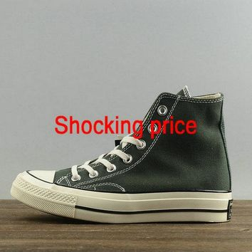 Buy Unisex Converse Chuck Taylor All Star 1970s High Blackish Green White 153887 shoe