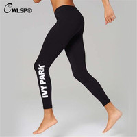 2016 Women esporte Beyonce Pants For Clothes IVY PARK Letter Print Tight SweatPants Elastic Clothing QL2386