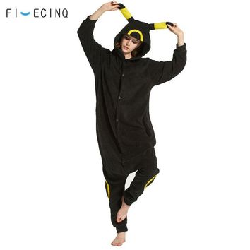 Umbreon Cosplay Costume Anime  Kigurumi Black Onesuit Pajama Festival Party Fantasias Women Adult Overall Animal JumpsuitKawaii Pokemon go  AT_89_9