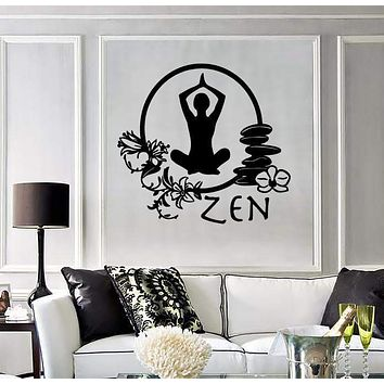 Wall Stickers Vinyl Decal Zen Meditation Yoga Health Mantra Enlightenment ig1434