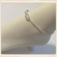 Silver infinity ankle bracelet silver anklet jewelry