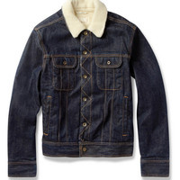 Rag & bone Faux Shearling-Lined Denim Jacket | MR PORTER