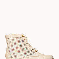 Perforated Combat Boots