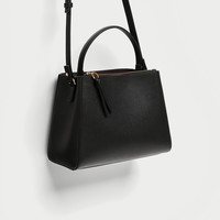 MEDIUM TOTE BAG WITH ZIP DETAILS