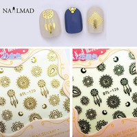1 Sheet Dreamcatcher Nail Art 3D Stickers Mandala Flower Nail Stickers