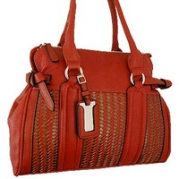 Classic Woven Style Fashion Purse Red