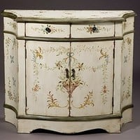 Home Living Style Furniture - Wistful Rustic White Cabinet