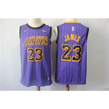 2019 LA Lakers 23 LeBron James City Edition Jersey