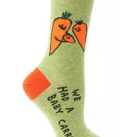 We Had A Baby Carrot Women's Crew Socks