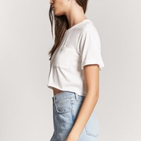 Rolled Hem Crop Tee - Women - Tops - Cropped - 2000252951 - Forever 21 Canada English
