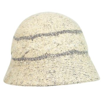 August Accessories Women's Casual Cable Knit Cloche Hat