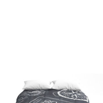Bedding Comforters for Foodie Lovers, Spanish Decor, Full, Queen, King, Black + White Decor, Dorm Room Decor, Bedding for Teens, for Men