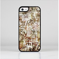 The Vintage Torn Newspaper Collage Skin-Sert Case for the Apple iPhone 5c