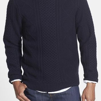 Men's Wallin & Bros. Cable Knit Roll Neck