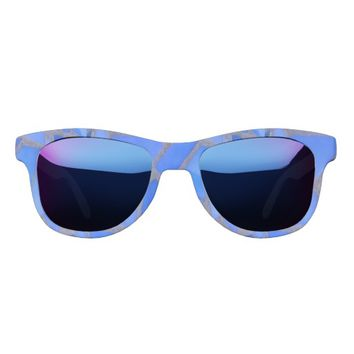 Blue Lapis Mosaic Stained Glass Look Sunglasses