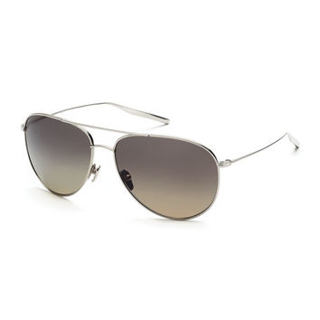 SALT. Francisco Polarized Aviator Sunglasses, Silver