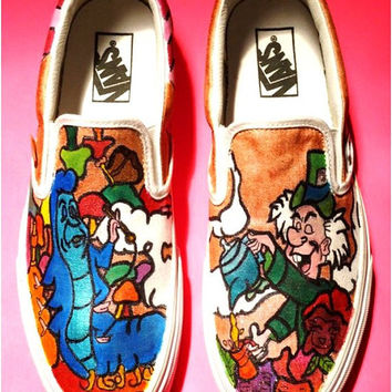 Hand Painted Alice in Wonderland Shoes