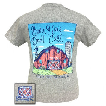 Girlie Girl Preppy Barn Hair Don't Care T-Shirt