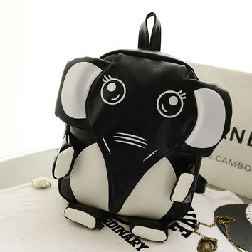 Cute Black Elephant Backpack