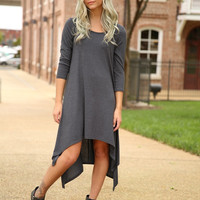 Got you on my Mind dress - Charcoal