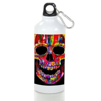 Gift Sport Bottles | Head Skull Water Colors Aluminum Sport Bottles