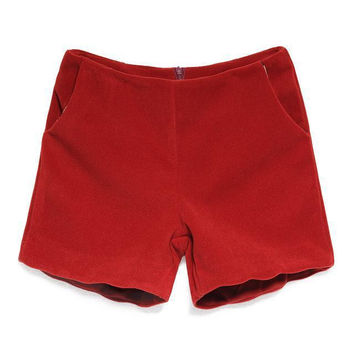 With Pocket Simple Design Pants Stylish Casual Boot Cut Shorts [4917834308]