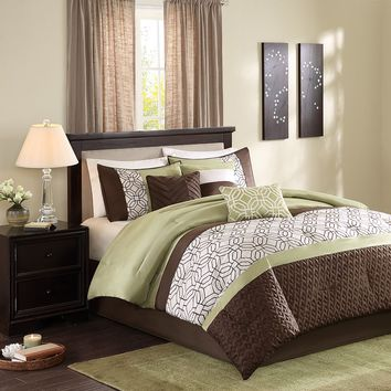 Madison Park Lindan 7-pc. Comforter Set (Green)