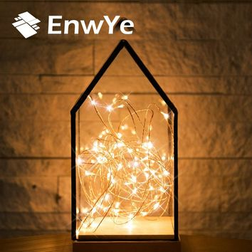EnwYe 10m 100 Led usb 5V Christmas Lights Indoor String Copper Wire Fairy Lights for Festival Wedding Party Home Decoration Lamp