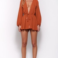 Wish Upon A Star Playsuit Rust