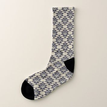 Native American Pattern Mayan Aztec Symbols 13 Socks