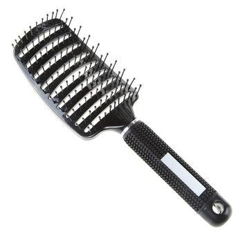 Anti-static Heat Curved Vent Big Size Comb Pro Hair Salon Barber Hair Styling Tools Rows Tine Combs Brushes Hairdressing