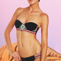 Mara Hoffman Swimwear 2011 ? Black Embroidered Bustier Bikini at Tropi-Ties