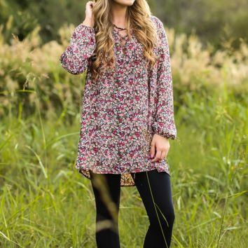 Like A Dream To Me Floral Print Tunic Dress