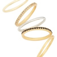 Madewell Set of 5 Filament Stackable Rings | Nordstrom