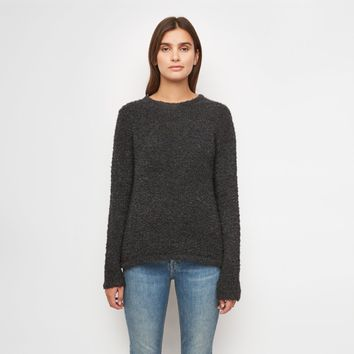 Merino Boucle Sweater - Charcoal