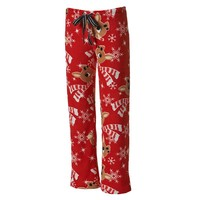 Rudolph the Red-Nosed Reindeer Pajamas: Plush Fleece Pajama Pants - Juniors