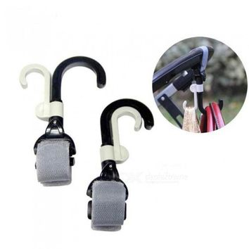 Baby Stroller Hook Holder Pram Double Rotate Hook Pushchair Hanger 2 Pieces Each Lot With Black And White Color 2pcs/Lot