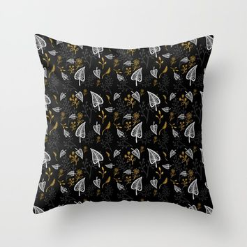 Floral Fiesta Throw Pillow by naumovski