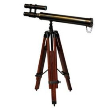 One Kings Lane - The Den - Authentic Models Bronze Table Telescope