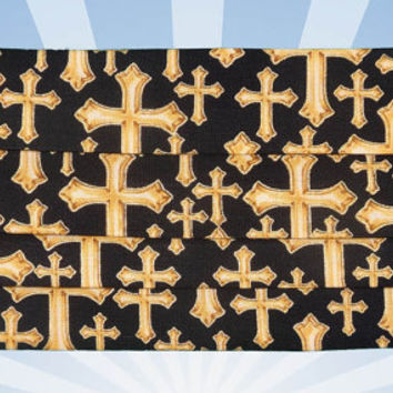 Face mask, Golden Crosses, Designer Face mask, Fun mask, washable, Dust and dirt protection, Golden Crosses