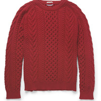 PRODUCT - Gant Rugger - Cable-Knit Cotton-Blend Sweater - 391344   MR PORTER