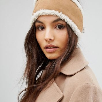 Jack Wills Sheepskin Head Band at asos.com