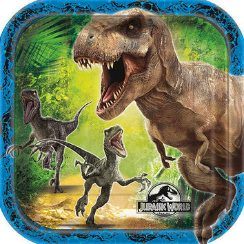Jurassic World 7 Inch Plates [8 Per Pack]