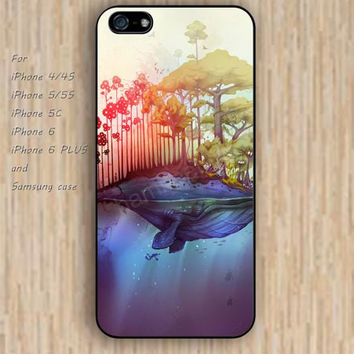 iPhone 5s 6 case Dream catcher colorful Whale Island tree phone case iphone case,ipod case,samsung galaxy case available plastic rubber case waterproof B432
