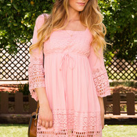 Karen Lace Dress - Blush