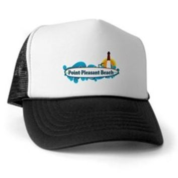 Point Pleasant Beach NJ - Surf Design Trucker Hat> Point Pleasant Beach NJ - Surf Design> Beach Tshirts.